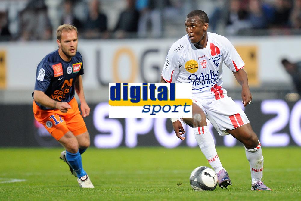 Fotball<br /> Frankrike<br /> Foto: Dppi/Digitalsport<br /> NORWAY ONLY<br /> <br /> FOOTBALL - FRENCH CHAMPIONSHIP 2009/2010 - L1 - AS NANCY v MONTPELLIER HSC - 24/04/2010<br /> <br /> JOEL SAMI (NANCY)