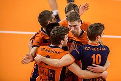 19-02-2017 NED: Bekerfinale Draisma Dynamo - Seesing Personeel Orion, Zwolle<br /> In een uitverkochte Landstede Topsporthal wint Orion met 3-1 de bekerfinale van Dynamo / Dik Heusinkveld #2 of Orion