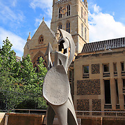 Southwark Cathedral And Roman Soldier Statue - London