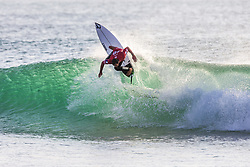 Joan Duru (FRA) advances to the final of the 2018 MEO Rip Curl Pro after winning Semifinal Heat 2 in Peniche, Portugal.