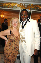 VANESSA FELTZ and BEN OFOEDU at the Chain of Hope Ball held at The Dorchester, Park Lane, London on 4th February 2008.<br /><br />NON EXCLUSIVE - WORLD RIGHTS