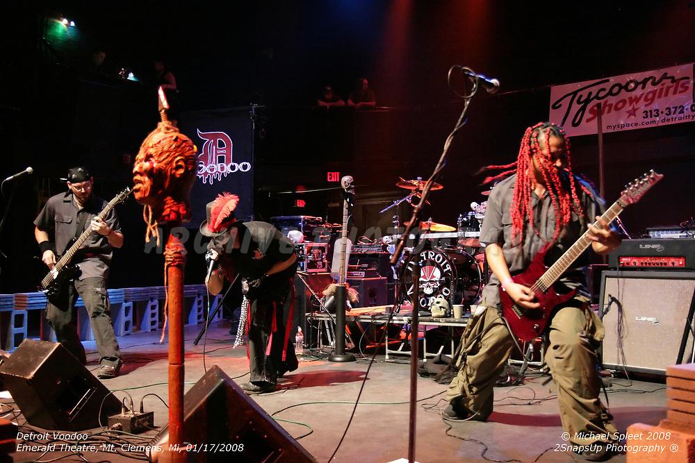 MT. CLEMENS, MI, THURSDAY, JAN. 17, 2008: Detroit Voodoo,  at Emerald Theatre, Mt. Clemens, MI, 01/17/2008. (Image Credit: Michael Spleet / 2SnapsUp Photography)