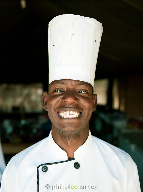 Local chef who works at an eco tourist camp, near Amboseli National Park, Rift Valley province, Kenya