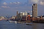 Londyn, 2009-03-05. Panorama miasta z bulwarów Tamizy.
