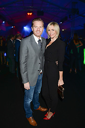 JENNI FALCONER and JAMES MIDGLEY at a party to celebrate the 1st birthday of nightclub 2&8 at Mortons held in Berkeley Square, London on 3rd October 2013.