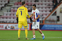 Football - 2019 / 2020 EFL Cup - Round 2 -AFC Bournemouth vs. Crystal Palace <br /> <br /> Bournemouth's Asmir Begovic shakes Luka Milivojevic of Crystal Palace hand after the cherries keeper saved the palace captains penalty during the EFL Cup tie penalty shoot out at the Vitality Stadium (Dean Court) Bournemouth  <br /> <br /> COLORSPORT/SHAUN BOGGUST