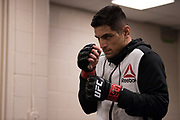 DALLAS, TX - MAY 13:  Gabriel Benitez warms up in the locker room before fighting Enrique Barzola during UFC 211 at the American Airlines Center on May 13, 2017 in Dallas, Texas. (Photo by Cooper Neill/Zuffa LLC/Zuffa LLC via Getty Images) *** Local Caption *** Gabriel Benitez