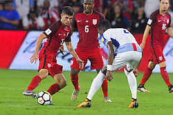 October 6, 2017 - Orlando, Florida, USA - United States midfielder Christian Pulisic (10) brings the ball upfield during a World Cup qualifying game against Panama at Orlando City Stadium on Oct. 6, 2017 in Orlando, Florida.  The US won 4-0....Zuma Press/Scott A. Miller (Credit Image: © Scott A. Miller via ZUMA Wire)