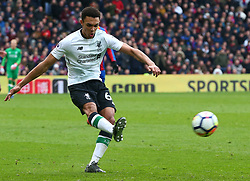 March 31, 2018 - London, Greater London, United Kingdom - Liverpool's Trent Alexander-Arnold.during the Premiership League  match between Crystal Palace and Liverpool at Wembley, London, England on 31 March 2018. (Credit Image: © Kieran Galvin/NurPhoto via ZUMA Press)
