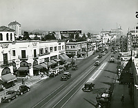 1935 Looking east on Hollywood Blvd. at