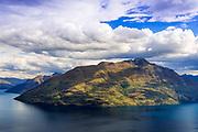 Cecill Peak above Lake Wakatipu, Queenstown, Otago, South Island, New Zealand