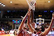Wright Julian Cervi Riccardo Mika Eric<br /> Grissin Bon Pallacanestro Reggio Emilia - VL Pesaro<br /> Lega Basket Serie A 2017/2018<br /> Reggio Emilia, 08/10/2017<br /> Foto A.Giberti / Ciamillo - Castoria