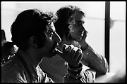 Fall River, Massachusetts - 18 February 1968. Frank Zappa (foreground) and Ian Underwood of The Mothers of Invention prior to a performance.<br /> <br /> For licensing of any of the images in this portfolio go to https://www.mptvimages.com/<br /> <br /> For fine art prints, get in touch with me directly.