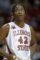 06 December 2006: LaShawn Johnson. In a non-conference game, the Cardinals of Ball State visited the Redbirds home at Redbird Arena in Normal Illinois on the campus of Illinois State University.<br />