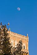 House and moon, Jerusalem Israel