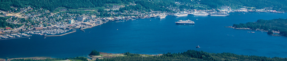 Alaska, Ketchikan,  South east port of call for cruise ship tours along the inside Passage in summer.
