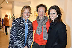 Left to right, AMY DIXON and MARCUS & ALEXA WALEY-COHEN at a private view entitled Stop Making Sense featuring work by Georgiana Anstruther and Carol Corell held at Lacey Contemporary, 8 Clarendon Cross, London on 9th March 2016.