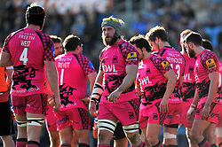 Lachlan McCaffrey looks dejected after London Welsh concede a try - Photo mandatory by-line: Patrick Khachfe/JMP - Mobile: 07966 386802 07/03/2015 - SPORT - RUGBY UNION - Exeter - Sandy Park - Exeter Chiefs v London Welsh - Aviva Premiership