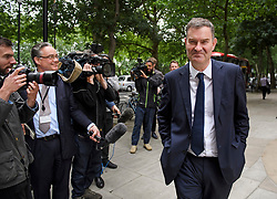 © Licensed to London News Pictures. 19/06/2019. London, UK. DAVID GAUKE MP is seen in Westminster following a media appearance. Further candidates are expected to drop out of the race to be the next Prime Minister over the next two days, leaving two, in a series of votes held by Conservative MPs at Parliament. Photo credit: Ben Cawthra/LNP