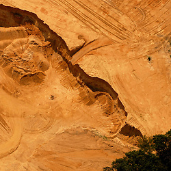 Aerial view of  moving dirt Aerial views of artistic patterns in the earth.