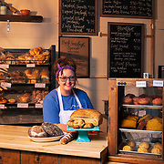 Grain + Honey Bake Shop owner Hannah Sadler behind the counter of her bakery in Springfield, Tennessee. Nathan Lambrecht/Journal Communications