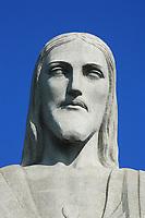 potrait corcovado christ redeemer in rio de janeiro brazil