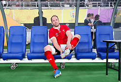 Wales' Alun Wyn Jones appears dejected as he leaves the pitch during the 2019 Rugby World Cup bronze final match at Tokyo Stadium.