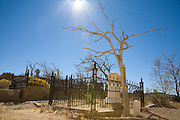 The graveyard at the historic gold mining town of Virginia City, Nevada.