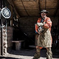 Faustino Mamani. Welder. One of the few people we met while riding the Belgrano Norte railway, Jujuy province, Argentina.