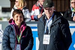 Maja Makovec Brencic, Minister for Sport, Science and Education of Slovenia and Anders Besseberg, IBU president during Men 12,5 km Pursuit at day 3 of IBU Biathlon World Cup 2015/16 Pokljuka, on December 19, 2015 in Rudno polje, Pokljuka, Slovenia. Photo by Vid Ponikvar / Sportida