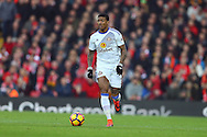 Patrick van Aanholt of Sunderland in action. Premier League match, Liverpool v Sunderland at the Anfield stadium in Liverpool, Merseyside on Saturday 26th November 2016.<br /> pic by Chris Stading, Andrew Orchard sports photography.