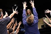 Open repetitie HAIR in de studio van Stage Entertainment.<br /> <br /> op de foto: Anouk Maas