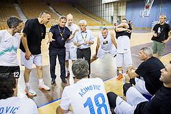 Bojan Prasnikar, Janez Drvaric during football and basketball charity event All Legends by Olimpiki, on June 9, 2015 in Hala Tivoli, Ljubljana, Slovenia. Photo by Vid Ponikvar / Sportida