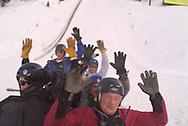 extreme winter rafting at Utah Olympic Park, Park City, Utah