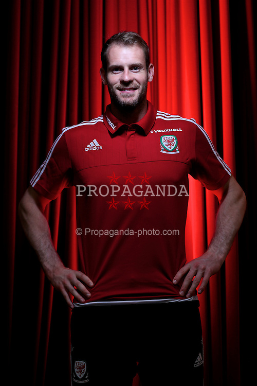 DINARD, FRANCE - Sunday, June 12, 2016: Wales' goalkeeper Owain Fon Williams poses for a portrait in the media centre at the team base in Dinard during the UEFA Euro 2016 Championship. (Pic by David Rawcliffe/Propaganda)