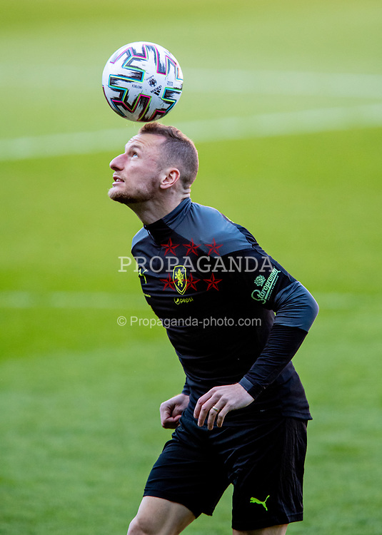 CARDIFF, WALES - Monday, March 29, 2021: Czech Republic's Vladimír Coufal during a training session at the Cardiff City Stadium ahead of the FIFA World Cup Qatar 2022 Qualifying Group E game against Wales. (Pic by David Rawcliffe/Propaganda)