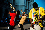 In front of the Saint Louis Cathedral in Jackson Square, New Orleans, LA