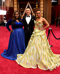 Joe Zee, Kelley L. Carter and Ryan Michelle Bathe on the red carpet at the 92nd Academy Awards held at the Dolby Theatre in Hollywood, Los Angeles, USA.