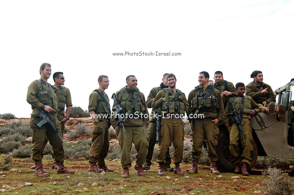 A group of Israeli soldiers in the occupied west bank