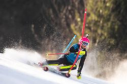 Pika Dvornik as a forerunner during the Ladies' Slalom at 56th Golden Fox event at Audi FIS Ski World Cup 2019/20, on February 16, 2020 in Podkoren, Kranjska Gora, Slovenia. Photo by Matic Ritonja / Sportida