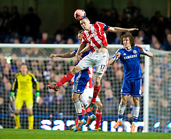 26.01.2014, Stamford Bridge, London, ENG, FA Cup, FC Chelsea vs Stoke City, 4. Runde, im Bild Stoke City's captain Ryan Shawcross, action against Chelsea // during the English FA Cup 4th round match between Chelsea FC and Stoke City FC at the Stamford Bridge in London, Great Britain on 2014/01/26. EXPA Pictures © 2014, PhotoCredit: EXPA/ Propagandaphoto/ David Rawcliffe<br /> <br /> *****ATTENTION - OUT of ENG, GBR*****