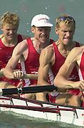 2003 - FISA World Cup Rowing Milan Italy.30/05/2003  - Photo Peter Spurrier.DEN LM 4- Bow, Bo HELLEBERG, Thomas EBERT, Thor KRISTENSEN,[Mandatory Credit: Peter Spurrier:Intersport Images]