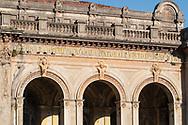 Terme del Corallo or Acque della salute. Friezes on the walls of the ballroom
