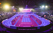 Gneral View of the Birmingham Arena before the start of the event during the IAAF World Indoor Championships at Arena Birmingham in Birmingham, United Kingdom on Thursday, Mar 1, 2018. (Steve Flynn/Image of Sport)