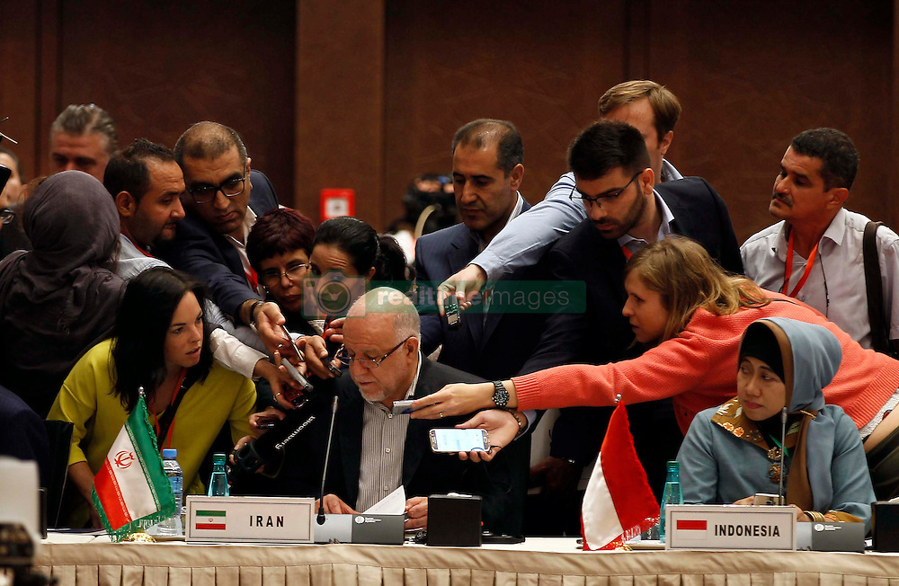 September 27, 2016 - Algiers, Algeria - Iranian Oil Minister Bijan Zanganeh attends the 15th International Energy Forum in Algiers on September 27, 2016, on the eve of an informal OPEC meeting the next day. Saudi Arabia's energy minister said he was optimistic that OPEC oil ministers would reach a 'common view' on the international market at their meeting in Algiers on September 28. (Credit Image: © Billal Bensalem/NurPhoto via ZUMA Press)