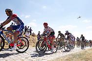 Bauke Mollema (NED - Trek - Segafredo) pass the first cobblestone section during the 105th Tour de France 2018, Stage 9, Arras Citadelle - Roubaix (156,5km) on July 15th, 2018 - Photo George Deswijzen / Proshots / ProSportsImages / DPPI