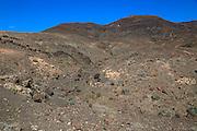 Barren rocky mountains, Jandia peninsula, Fuerteventura, Canary Islands, Spain