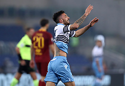 March 2, 2019 - Rome, Lazio, Italy - SS Lazio v As Roma : Serie A.Danilo Cataldi of Lazio celebrates after the gol scored at Olimpico Stadium in Rome, Italy on March 2, 2019. (Credit Image: © Matteo Ciambelli/NurPhoto via ZUMA Press)