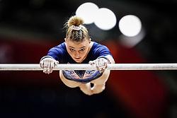 October 28, 2018 - Doha, Quatar - Lorette Charpy of France   during  Uneven Bars qualification at the Aspire Dome in Doha, Qatar, Artistic FIG Gymnastics World Championships on 28 of October 2018. (Credit Image: © Ulrik Pedersen/NurPhoto via ZUMA Press)
