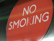No smoking sign in London, UK. Smoking remains the top health concern in the UK.